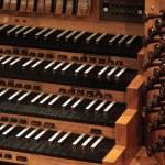 Pipe organ keyboard — Stock Photo #13472012