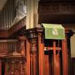Church pulpit — Stock Photo