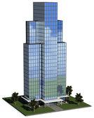 Modern hi-rise corporate office building — Stock Photo