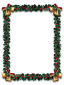 Holly Garland Border — Stock Photo