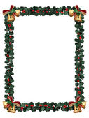 Holly Border isolated on white — Stock Photo