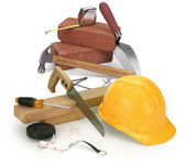 Tools and construction materials — Stok fotoğraf