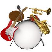 Jazz montage — Stockfoto