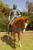 Knight on horseback vertical — Stock Photo