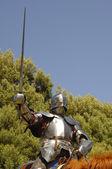 Knight charging — Stock Photo