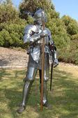 Knight with axe — Stock Photo