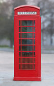 Red London phone booth — Stock Photo