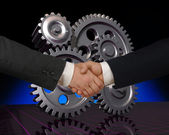Manufacturing partners — Stock Photo