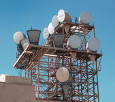 Microwave antennas — Stock Photo