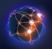 Network Globe — Stock Photo