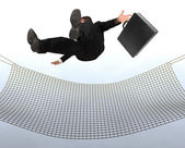 Businessman falling — Stock Photo