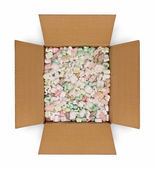 L'ouverture de boîte avec remplissage d'emballage — Photo