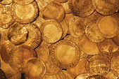 Pirate's gold coins — Stock Photo