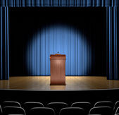 Podium On Stage — Stock Photo