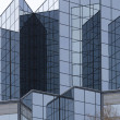 Angular glass exterior - Stock Photo