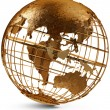 Brass Globe — Stock Photo