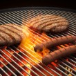 Flaming Grill — Stock Photo