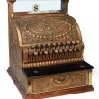 Old fashioned cash register, isomorphic view - Stock Photo