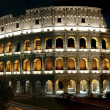 Roman Colliseum at night — Stock Photo