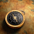 Map & Compass — Stock Photo