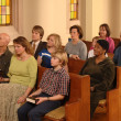 Stock Photo: Church Congregation