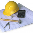 Construction planning on white — Stock Photo #13483804