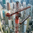 Construction Crane from Above — Stockfoto