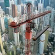 Construction Crane from Above — Foto de Stock
