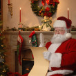 Stock Photo: Santa Checking the List