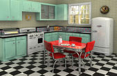 1950's Kitchen — Stock fotografie