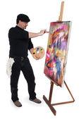 Konstnären — Stockfoto
