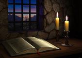 窓の近くの聖書 — ストック写真