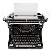 Blank sheet in a typewriter — Stock Photo