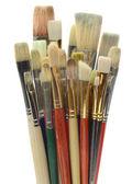 Artists Brushes on White — Stock Photo