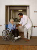 Admitting Senior to Health Facility — Stock Photo