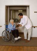 Admitting Senior to Health Facility — Stock Photo