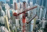 Construction Crane from Above — Stock Photo