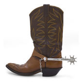 Cowboy Boot and Spur — Stock Photo