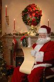 Santa Checking the List — Stock Photo