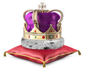 Crown and Pillow — Stock Photo