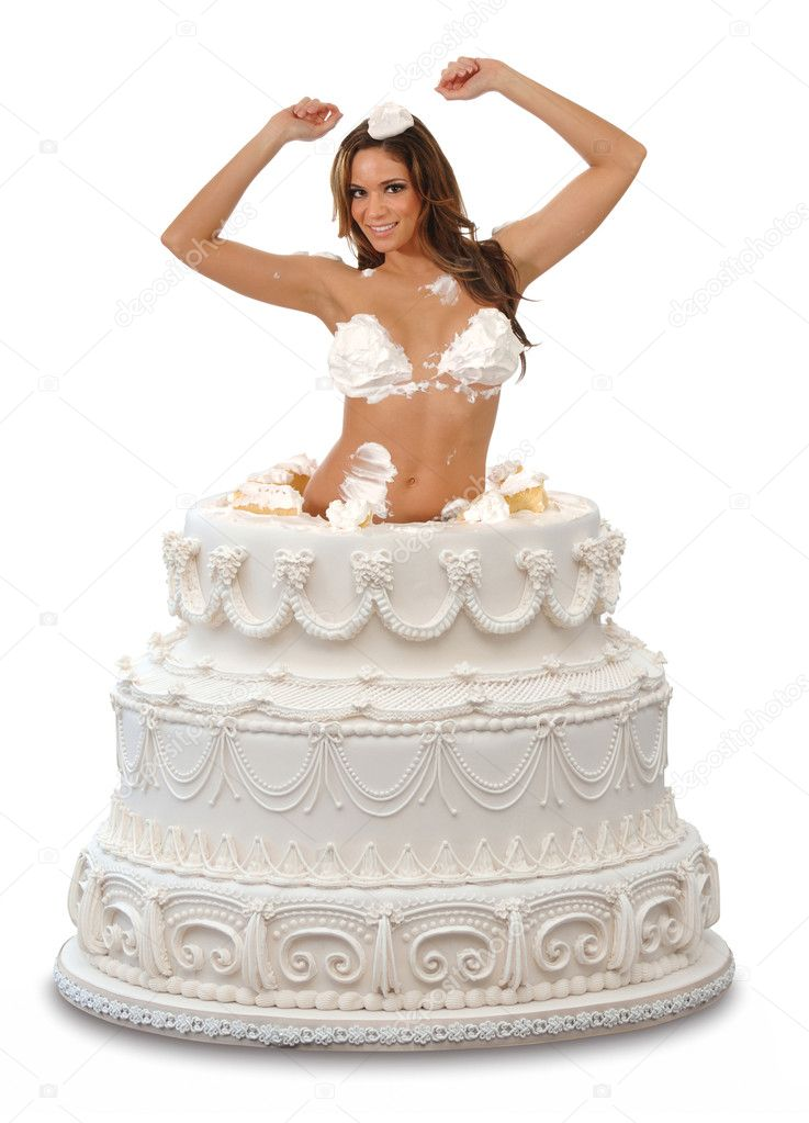 Woman Popping Out Of A Birthday Cake