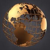 Gold Globe — Stock Photo
