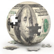 Dollar Globe - Stock Photo