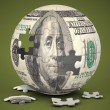 Dollar Globe — Stock Photo