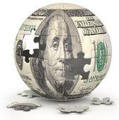 Dollar Globe — Stock Photo