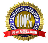 Satisfaction Guaranteed Seal — Stock Photo