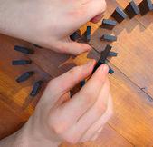 Domino game — Stockfoto