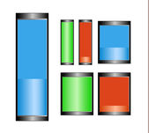 Battery Symbols — Stock Vector