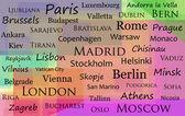 Capital cities of Europe — Stock Vector