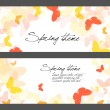 Set of spring butterfly illustrations — Stock Vector